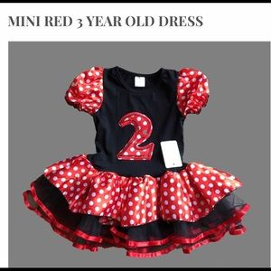 Other - Mini Red 1, 2, 3 years old dress